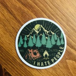 Sticker: I hate people
