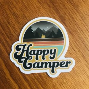 Sticker: Happy camper