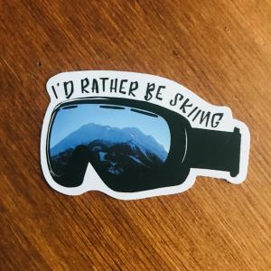 Sticker: Rather be skiing
