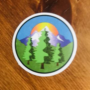 Sticker: Forest mountain